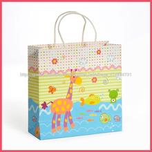 linda bolsa de papel de dibujos animados para los niños