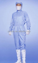 antistatic lasercut class 100 working coverall for clean room