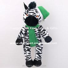 Plush Toy Factory Manufacturer Christmas Animal Toy Stuffed Zebra