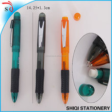 New 2 in 1 ball pen with mechanical pencil with top eraser