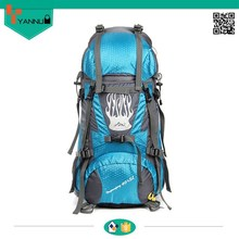 hot selling large capacity ventilate system durable with holder portable nylon mesh drawstring backpack bag outdoor hiking