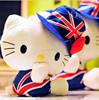 Happiness cat Kitty plush dolls british wind union jack