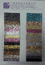 Fashion PU glitter leather material for handbag and wallpaper usage