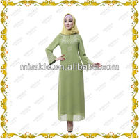 MF19127 dress long sleeve abaya gamis baju busana muslimah.