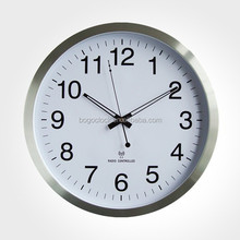 Aluminum Digital Radio Controlled Wall Clock with Movement