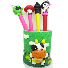 Polymer Clay cheap set gift metal pen cute animal design set