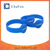 printed silicone wristband can put lf/hf/uhf frequency chip inside with different color for option can print logo