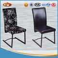 Diseño del conjunto de la pierna lacado negro de la pu/cojín de tela silla de comedor