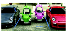 Two Seats EEC Electric Mini Car for Sale/4 wheels Electric Mini Cars from China with Heating