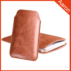 best top grain leather phone pouch for iphone 6 case
