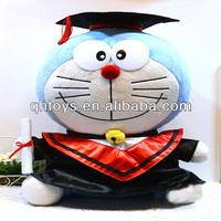 Doraemon cat graduation plush toy