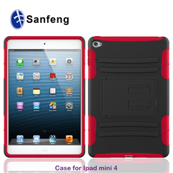 Drop Protective Armor Hybrid Dual Layer Defender Protective Case Cover for apple iPad Mini 4