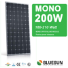 Bluesun china best efficient Mono 200W solar pv panel with CE UL TUV