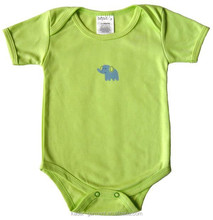 New born babys cotton romper green baby romper