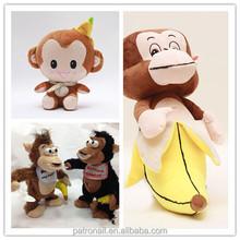 LED flashing sounds plush hanging monkey,plush monkey long arms, hanging plush monkey