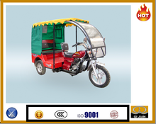 Gasoline/Petrol powerful taxi tricycle with canvas and windshiled