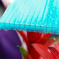 plastic lexan clear 2.8mm-20mm thickness polycarbonate hollow sheet used sunroom panels for sale