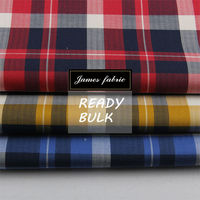 new developed autumn and winter designs 60*60 high quality twill cotton check regular soft fabric