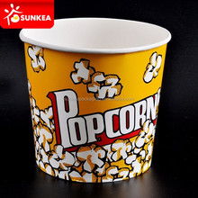 Stable Cardboard Film Theater Popcorn Box / Popcorn Bucket Pail Bag