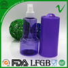 BPA free transparent colorful recycled plastic air freshener bottle with elegance shape