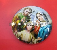 crystal fridge magnet with color printing crystal virgin mary