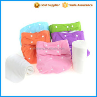 wholesale prefold diapers with PUL solid color adult baby cloth diaper