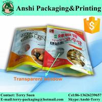 Custom print plastic pouch food grade plastic bag frozen food bag