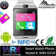 Touch screen smart watch bluetooth phone,waterproof watch mobile phone with camera