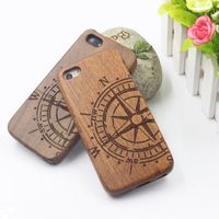 Hight Quality New Style Bamboo Traditional sculpture Wood Hard Back Wooden Case Cover phone Case for iphone 5 5S 5G