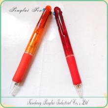 2015 Hot sale cheap cutsom 3 in 1 multi color plastic pen