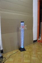 Interior water features bubble tube light led floor lamps with fish