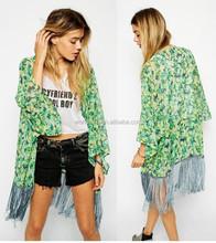 chiffon printed kimono cardigan