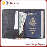 bifold wallet for passport holder for business travel flip passport bag with card pocket
