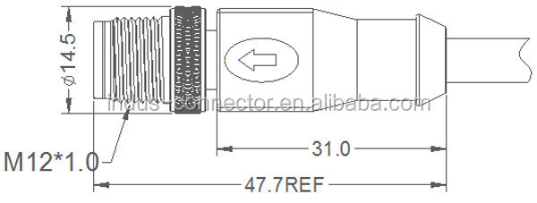 ethernet shielded 8 pin cable m12 to rj45