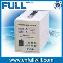 Hot sale SVC 500VA single phase motor type automatic universal voltage stabilizer for wind generator