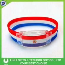 Customized Promotion LED Lighted LED Silicone Lighted Wristband, Colorful LED Silicone Lighted Wristband