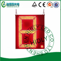 hidly 12inch red customized led digital sign RF Remote(GAS12ZR254)
