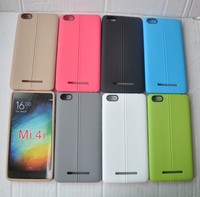 Double Line Leather Pattern Colorful Soft TPU Cover Case For Xiaomi 4i Mi 4i Mi4i