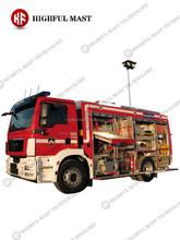 2015 caliente venta del camión de bomberos torre, montados en vehículos camión de bomberos móvil mástil y torre