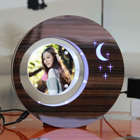 LED suspending in the air magnetic levitation photo frame india wedding door gift