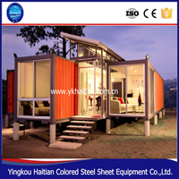 Container house and steel prebuilt container home for sale, luxury container house