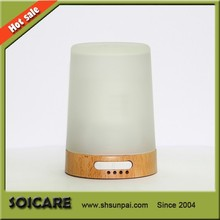 2014 SOICARE New arrivaling real wood&glass electric ultrasonic aroma diffuser