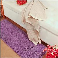 Wholesale carpet factory water absorbent microfiber chenille bath mat