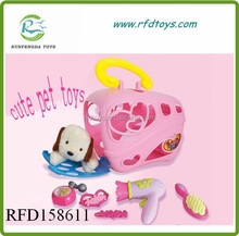 The series of toy pet houses children house play set toys plush pet toy for dog