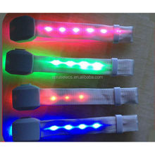 2015 LED Flashing Sound and Motion Activated Wristband Bracelet Control DMX For Night Clubs, Parties, Concerts.