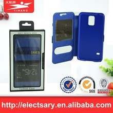 Leather Flip View Window Smart Cover CaseSamsungS5 MINI