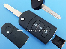 LEDY car key Mazda flip remote key cover 3 buttons