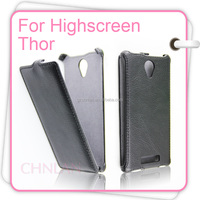 2014 Russian Style Luxury New Item Flip Vertical Up and Down Open Leather Case for Highscreen Thor