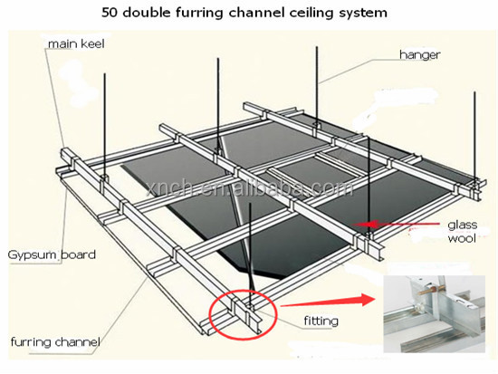 Ceiling Grid Components Type Hanger Wire Rod Suspended