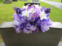 plastic mesh stretch ribbon artificial wreaths for grave